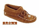 Women's Classic Peace-Moc Squaw, with double-leather soft-sole and fully padded insole. Made with soft, supple suede.. Colors: black, brown, gray, tan