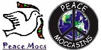 PEACE-MOCS moccasins distributed by THE HANSA GUILD Co.
