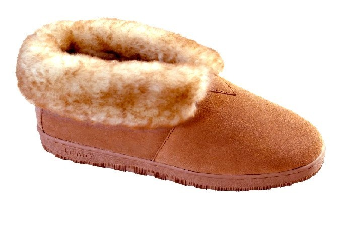 Men s Sheepskin Moccasins - Ankle-Hi Slipper-Shoe-Booties - sierra