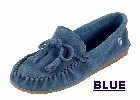 Women's Classic Peace Moc with lightweight rubber sole and fully padded insole. Made with soft, supple suede. Indoor/outdoor use. Colors: black, blue, chocolate, poppy-red, and tan