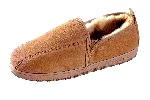 Men's Sheepskin Moccasin-Slippers with Twin-Sided ElasticSlit - sierra indoor/outdoor sole, golden tan sheepskin; sizes: 7-13 &amp; 14X (full sizes only)