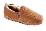 Men's Sheepskin Moccasin-Slippers with Twin-Sided ElasticSlit - sierra indoor/outdoor sole, golden tan sheepskin; sizes: 7-13 & 14X (full sizes only)